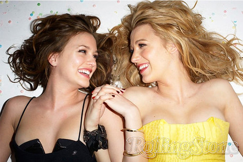 Blake Lively & Leighton Meester. From Rolling Stone photo shoot for the
