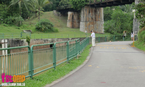 Residents enjoy fishing at the Sungei Ulu Pandan park connector