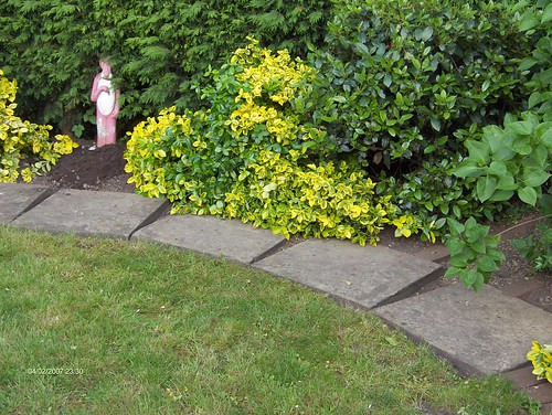 Indian Sandstone Patio and Lawn Image 7