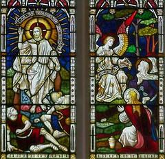 Resurrection window, Aberdare (robin.croft) Tags: church wales jesus stainedglass anglican rct resurrection elvan bvm marymagdalen rhonddacynontaff aberdare stelvans