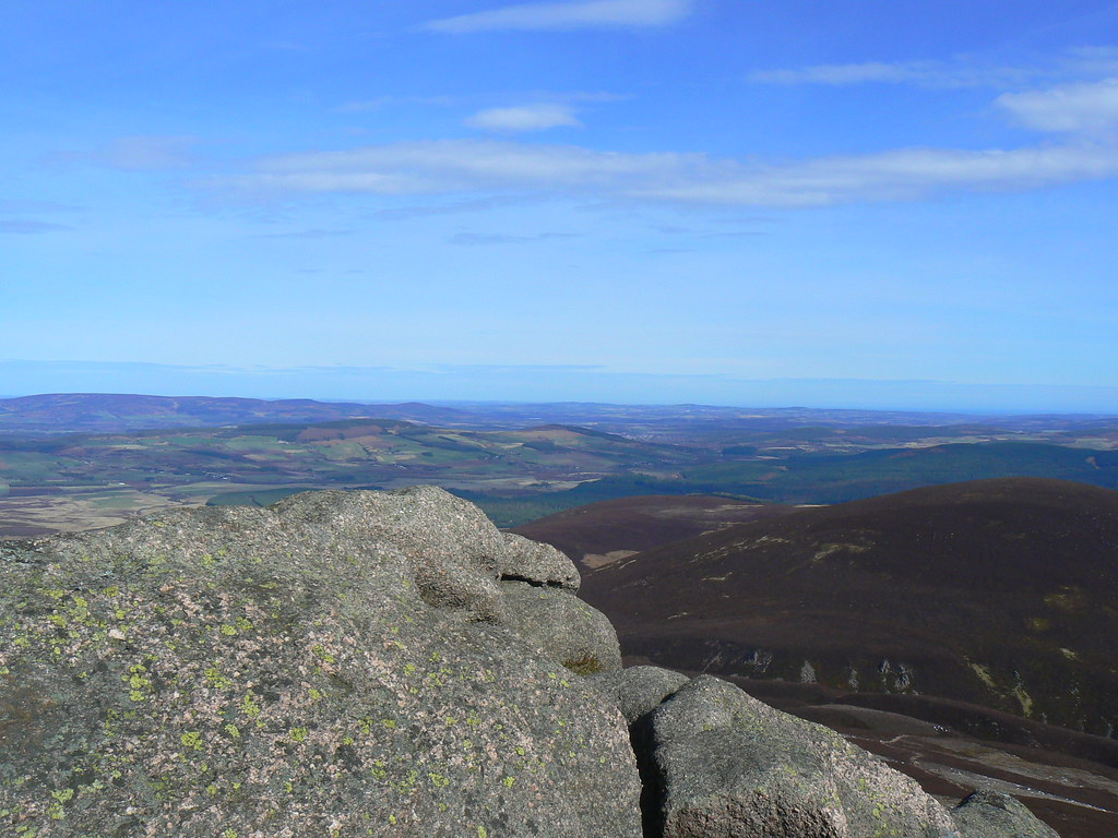 The view north east from the summit tor