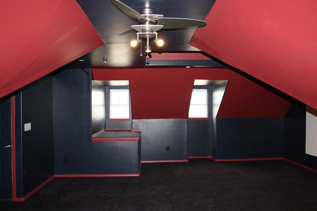 Mattflix Media Room Attic Theater Begins Construction