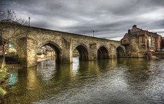 Durham (Simon Grubb) Tags: county uk bridge england color simon water canon river flow eos photo spring flickr durham britain north sigma wear east almost 1020mm tone hdr grubb anything photomatix 40d anawesomeshot