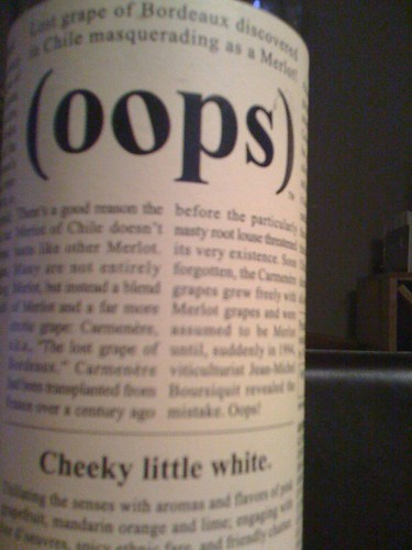oops Cheeky Little White Sauvignon Blanc 2008