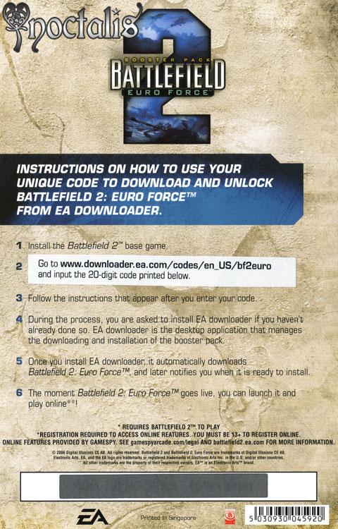 Battlefield 2 Euro Force Download Code