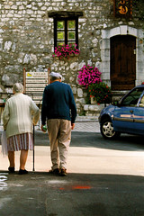 Walking Home (gwenster2) Tags: france couple oldercouple villagelife ppsop frenchcouple