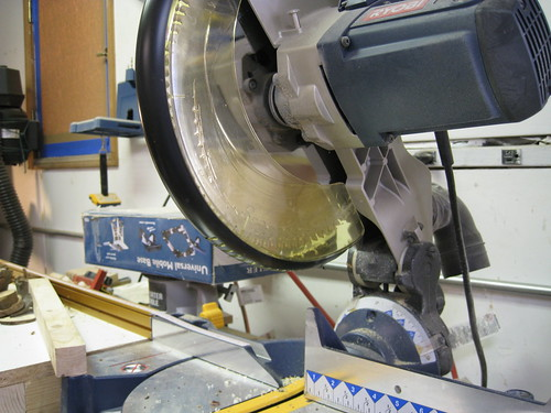 damaged miter saw