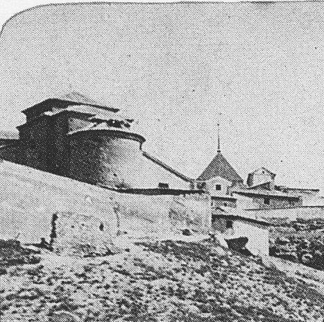 Iglesia de San Lucas a finales del siglo XIX. Fotografía de Casiano Alguacil (detalle)
