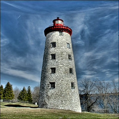 ~ Battle of the Windmill ~ (ViaMoi) Tags: blue sky lighthouse stone soe hdr 3shot 1838 photomatix digitalcameraclub prescottontario battleofthewindmill theunforgettablepictures viamoi 100commentgroup canadiannationalhistoricpoint