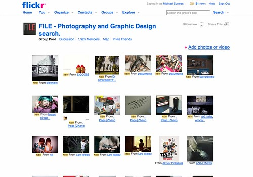 The FILE - Photography and Graphic Design search. Pool_1239875970657