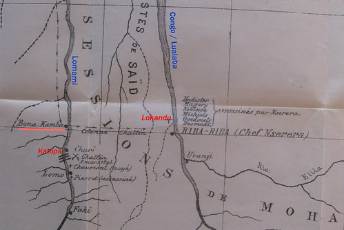 1894 map of Lomami and Lualaba