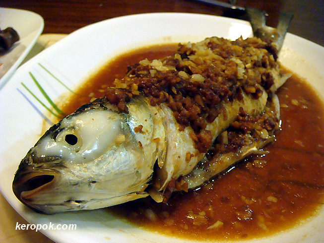 Steamed Mullet with Fermented Beans