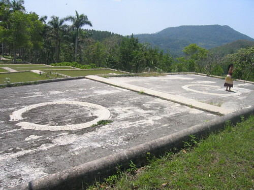 Coffee drying circles, Pinar del Rio