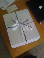 Our First Wedding Gift (wrapped).  Photo by TFDuesing.