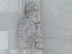 One of the great sculptures on this National Guard Armory in Hyde Park