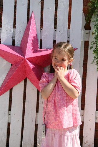 pink star, pink girl