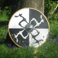 Shield Design for Leothwyn Hearth (Thorskegga) Tags: dark design stag symbol decoration age hearth shield hoo celt reenactment sutton saxon pagan anglo heathen asatru heathenry