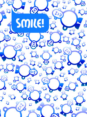 Phone Wallpaper for Boys. 'SMILE' Mr. Smileyman Pattern Wallpaper for mobile