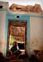 Badami (Shrenik Sadalgi) Tags: red people orange india stone architecture nikon flash sigma story temples cave karnataka shrenik strobe badami chalukya asi sb800 2470 mahaveer parasnath d80 chalukyas shreniksadalgi sadalgi photomentary