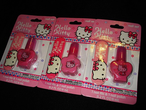 Hello Kitty Nail Polish sets.