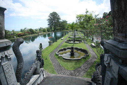 Tirta Gangga from the bridge entrance