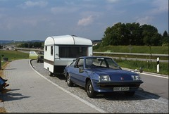 Car + Caravan Nr Kempten - Germany - July 1978