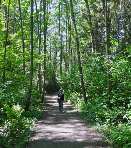 Pam on Spirit Park Trail