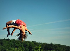 falling falling falling (chelsea chen.) Tags: trees sky hair flying air trampoline falling tori bestfriend backflip