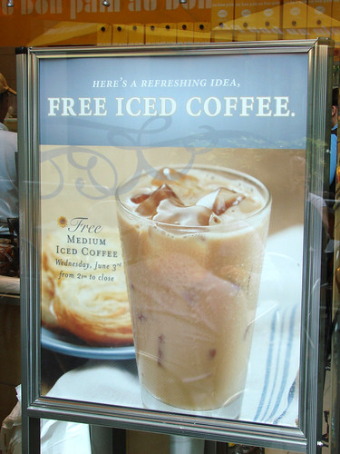 Au Bon Pain Free Iced Coffee