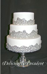 Mercury (Deliciously Decadent (Taya)) Tags: wedding white cake silver mercury cachous dregrees