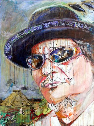 """We have returned to claim los pyramids (portrait of L.A. David)"" by Ed Saavedra"