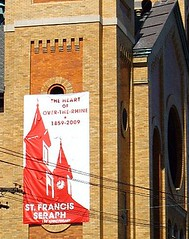 "church of St Francis Seraph, ""The Heart of OTR 1859-2009"" (c2009 FK Benfield)"