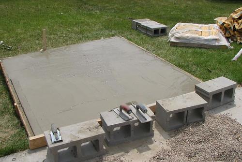 foundation slab in place