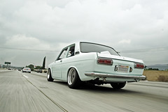Kyle's Datsun 510 Rear (SKSMco) Tags: california cruise rat nissan 10 socal freeway rod mazda 510 miata jdm datsun 240sx slammed scrape dumped s13 s14 ratsun speedhunters