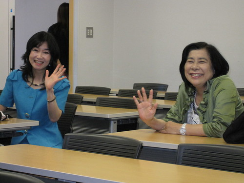 Toyo Gakuen University professors Sakamoto-sensei and EEDC Director Harada-sensei