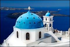 Tradition & Attraction (Souvik_Prometure) Tags: church bravo santorini greece oia orton firostefani greekisland flickrsbest nikond80 souvikbhattacharya