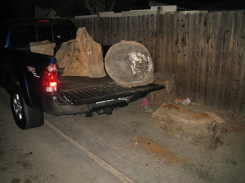 heaviest log I've ever lifted in my truck at last