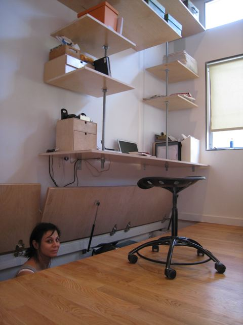 suspended home office