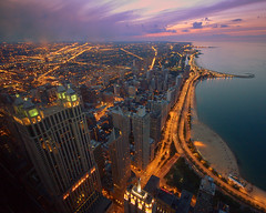 chicago getaway (snapstill studio) Tags: summer chicago streets skyline night lights illinois downtown lakemichigan lakeshoredrive lsd observatory hancock magnificentmile northavenuebeach