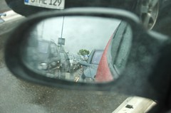 Regen an der Fähre