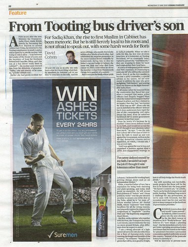 Profile in the Evening Standard