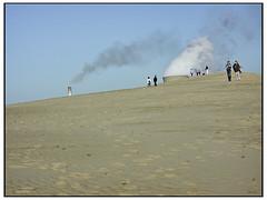 Dangerous Anthropogenic Interference - Kodachrome (swanksalot) Tags: beach sand air indiana dai pollution kodachrome coal indianadunes swanksalot sethanderson dangerousanthropogenicinterference