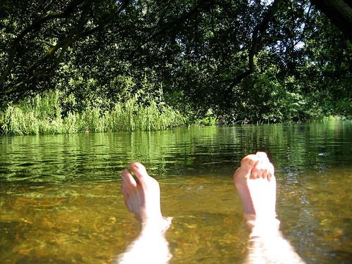 Summer river swim