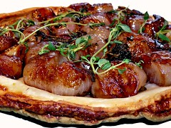 Shallot and Gralic Tarte Tatin
