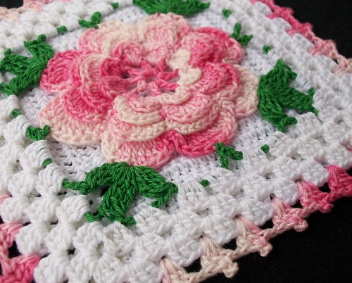 The Sunroom: Santa Rose Throw Free Crochet Pattern NaturallyCaron