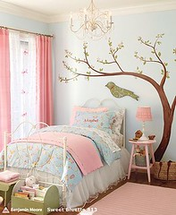 Decorao: Idia de quarto para menina (Jessica Santin (Jehhhhh)) Tags: claro pink blue tree verde girl azul wall painting diy bedroom do room painted decoration rosa it quarto rvore decorao yourself parede voc mesma idia faa