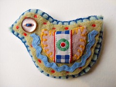 "lovebird brooch - finished product 4 • <a style=""font-size:0.8em;"" href=""http://www.flickr.com/photos/62749367@N06/5715610260/"" target=""_blank"">View on Flickr</a>"