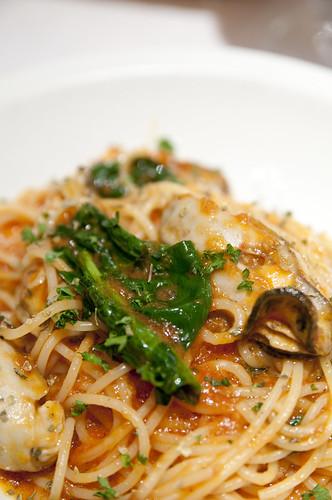 Spagehtti Ostriche e Spinaci, Ristorante Carmine, Ushigome