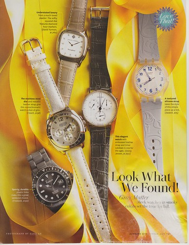 Swatch in O Magazine October 2010 by LauraMoncur from Flickr