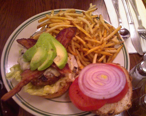 Bacon cheeseburger w/ fries @ The Nickel